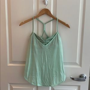 lululemon tank top, mint green, stripe, size 6 (s)